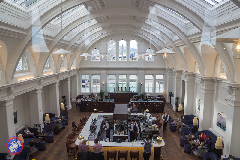 One of the Drawing Offices of the Old Harland and Wolff Building that has been Converted to a Bar for the Titanic Hotel Belfast (©simon@myeclecticimages.com)