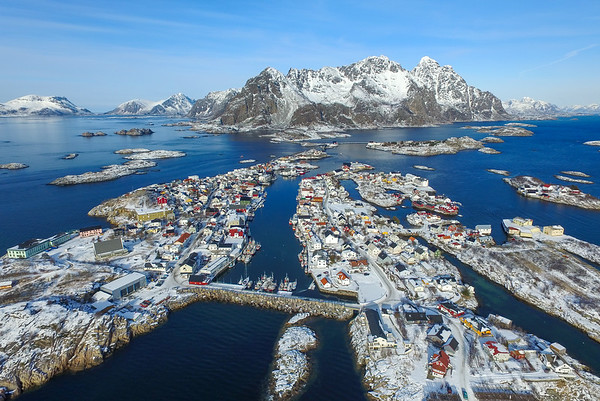 Lofoten from the air