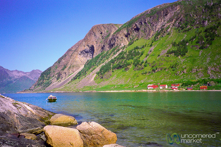 Sleepy Fishing Village on the Arctic Sea - Norway