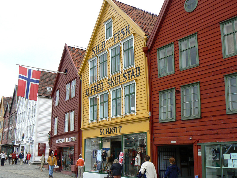 Bergen's colorful wharf area marks the beginning of an active day in Bergen.