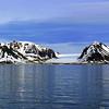 Mountains with glacier near Longyearbyen, Svalbard, Norway