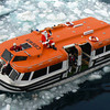 Santa sails the Arctic Ocean