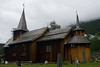 Stave church we stopped at on the way to the Aurland trail.