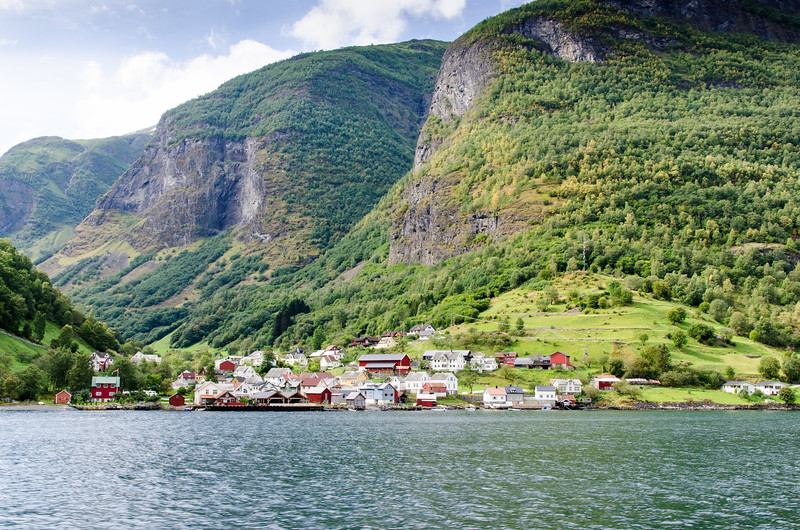 Passing the village of Undredal on the way to Flam.