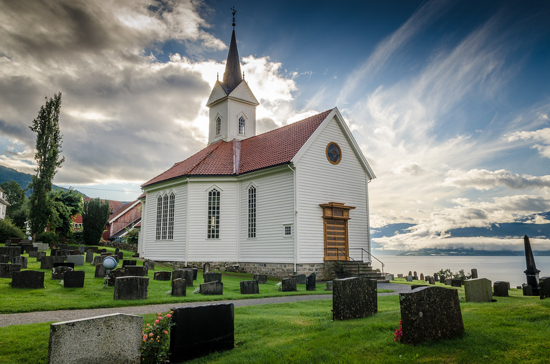 Tjugum Church , a short walk from our hotel and just across the water from Balestrand.