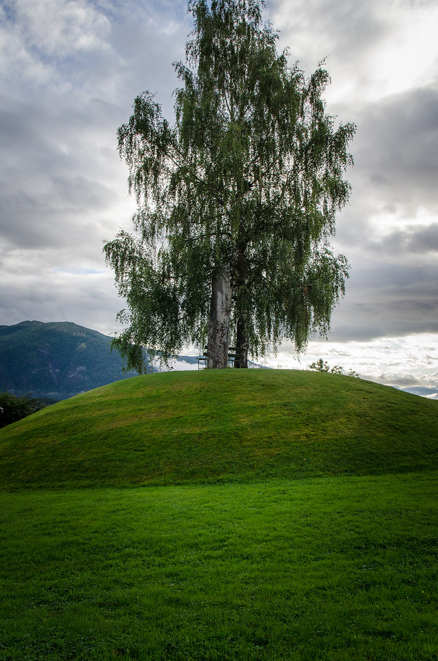 Viking burial mound in Balestrand.