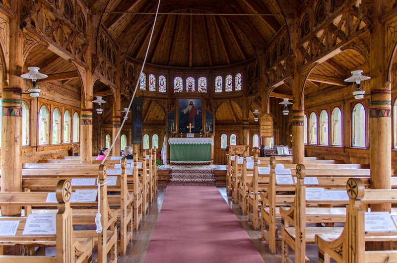 The interior of St Olaf's Church.