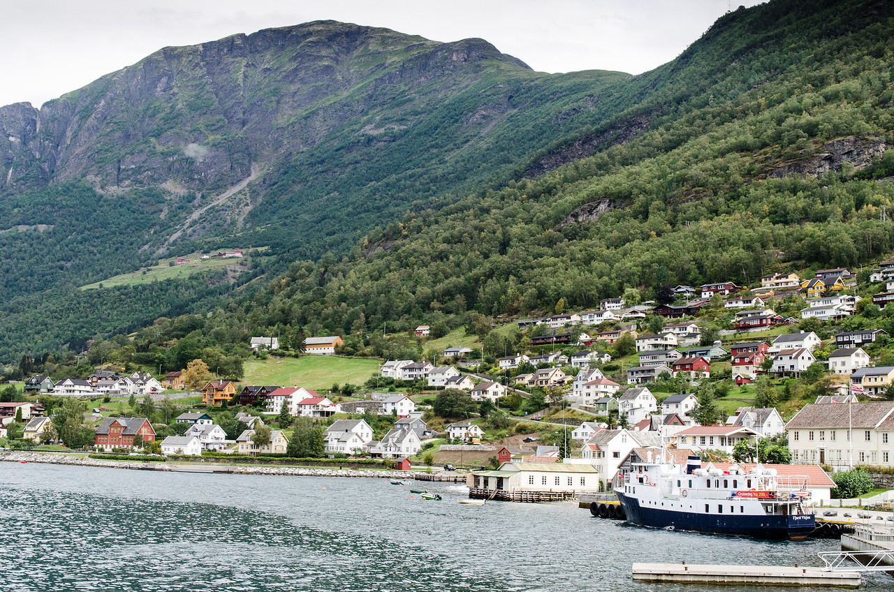 A brief stop in Aurlandsvangen on the way to Flam.