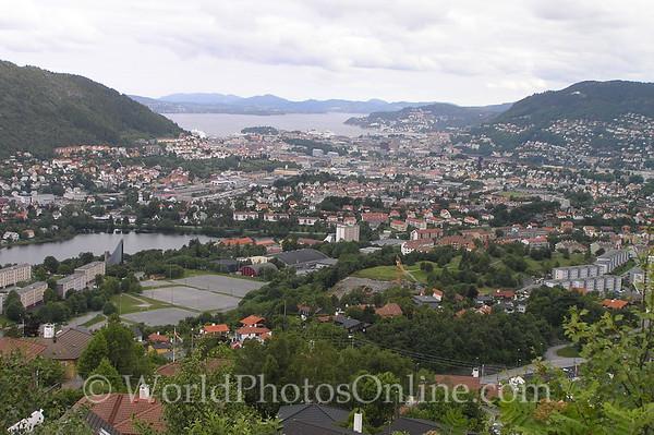 Bergen - View of Bergen from Edvard Grieg's House