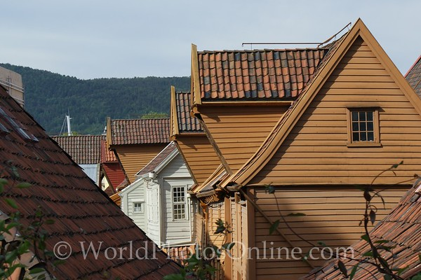 Bergen - Hanseatic League Houses - Roof Lines