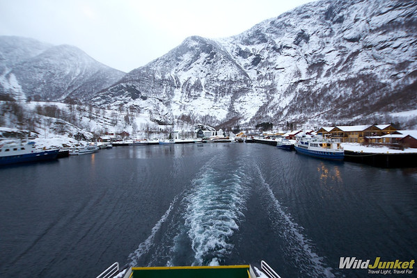 Leaving Flam on the fjord cruise