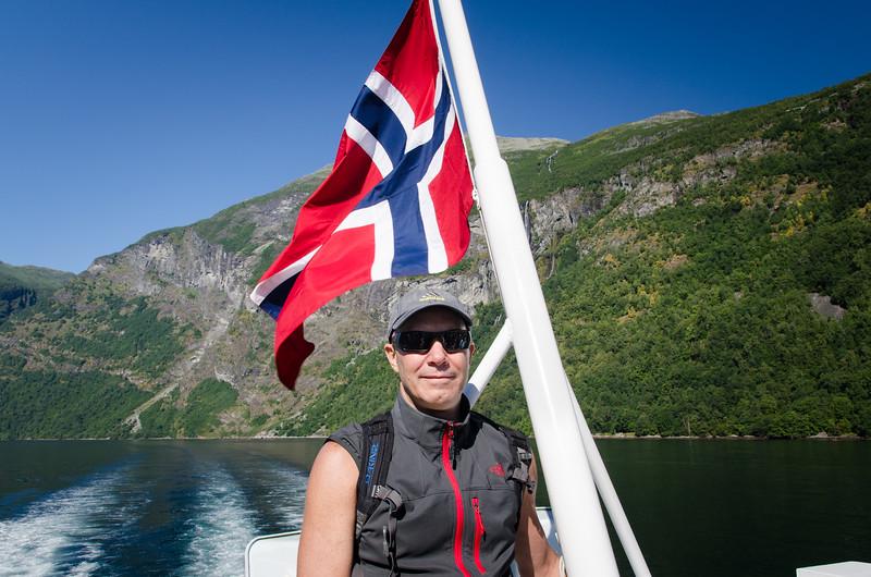 Cruising Geirangerfjord.