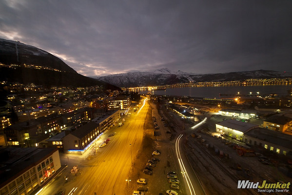 View from our Room at Rica Hotel Narvik