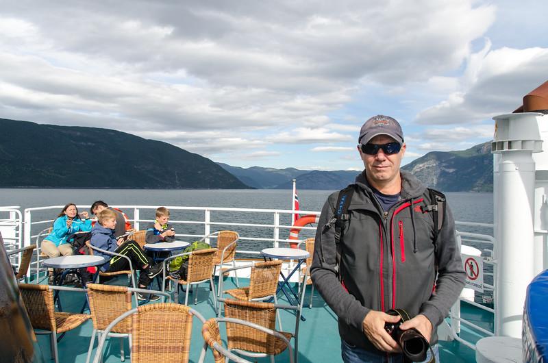 Tim enjoying the sun on deck.