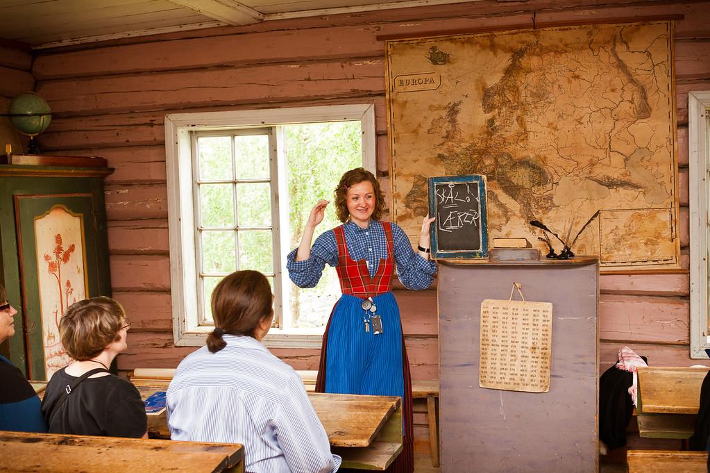 Norwegian lesson, Maihaugen Museum - Lillehammer, Norway