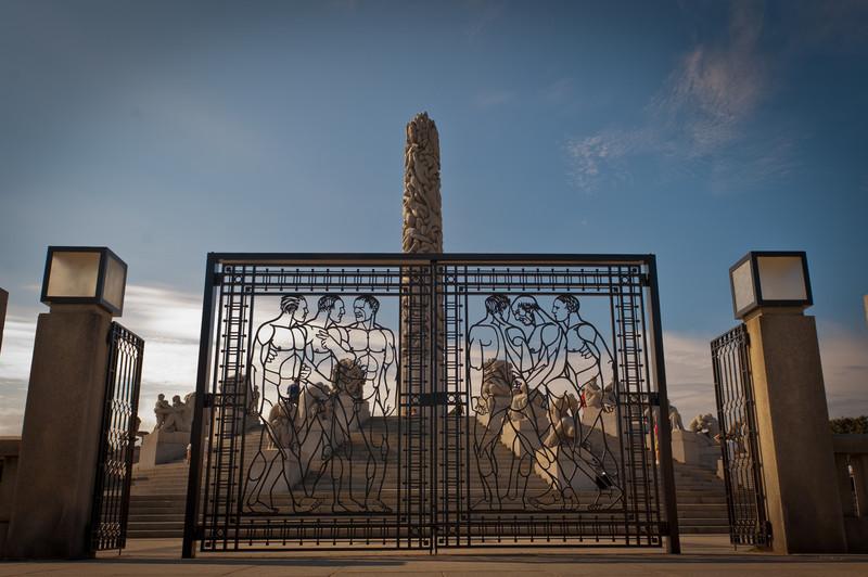 Wrought iron gate on Monolith Plateau by Gustav Vigeland