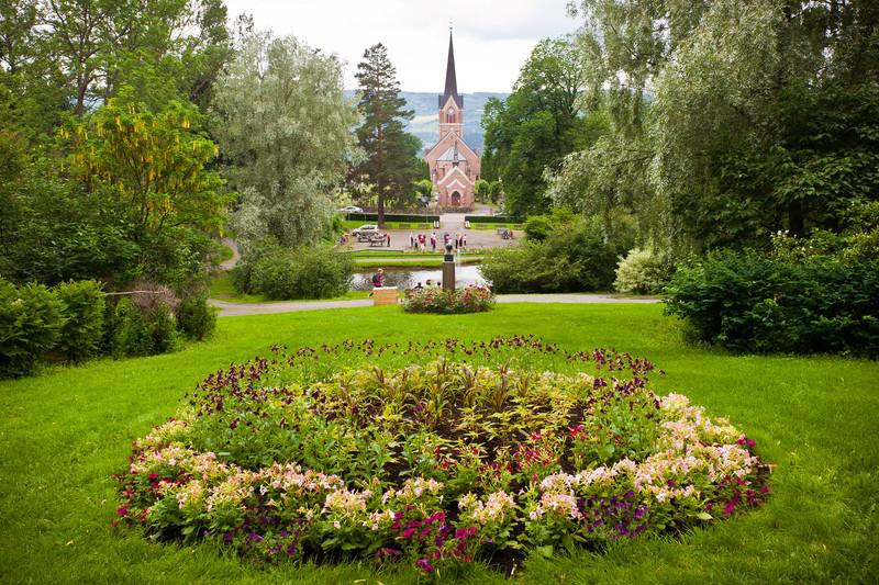 Park in Lillehammer, Norway