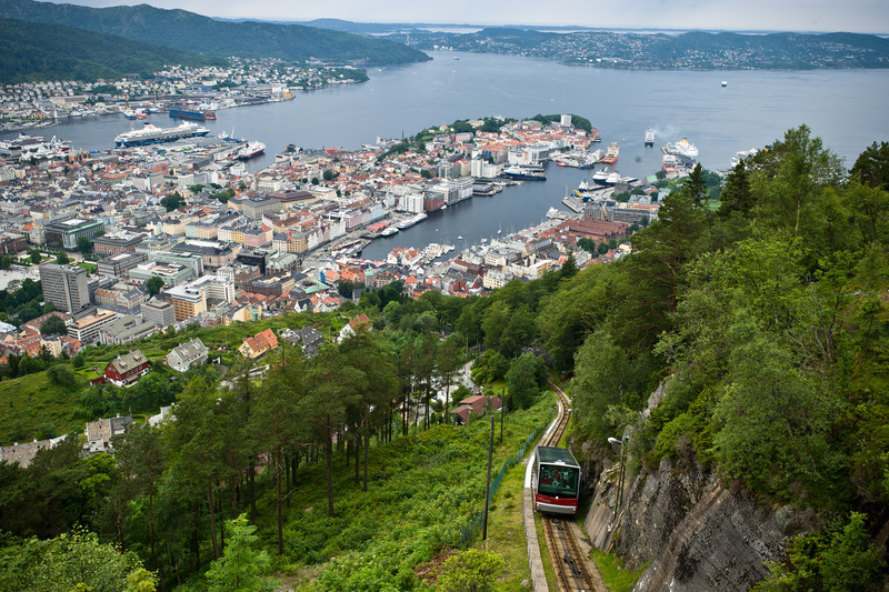 Bergen from Mount Floyen, Norway