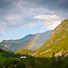 Rainbow at Elvesaeter, near Lom, Norway