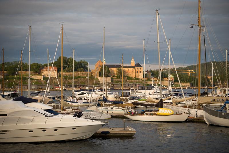 Oslo Harbor view of Akershus fortrus