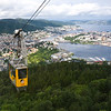 Bergen from Mount Ulriken via cable car