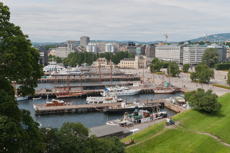 Oslo Harbor from Akershus Fortress park