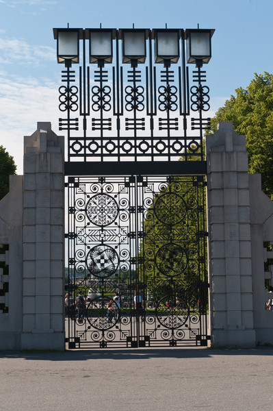 Entrance to Frogner 75 acre Park - Oslo