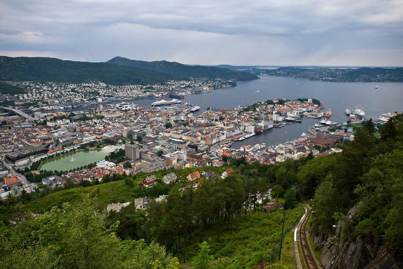 Bergen from Mount Floyen, Norway