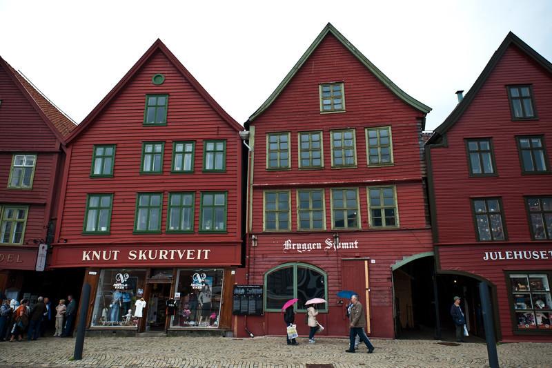 Bryggen historic Area, Bergen, Norway