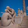 Granite sculptures on Monolith plateau by Gustav Vigeland