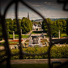 Fountain through the wrought iron gate by Gustav Vigeland