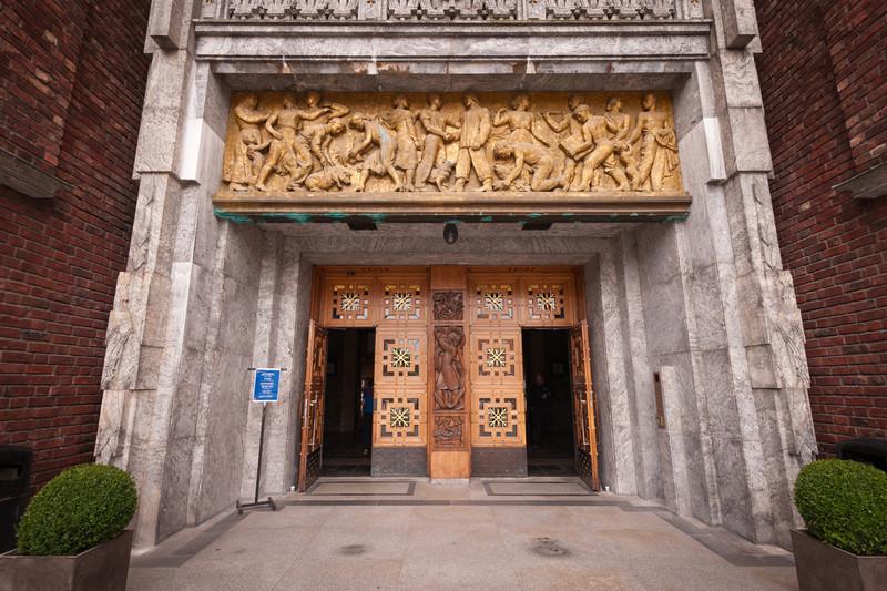 Entrance to Oslo City Hall
