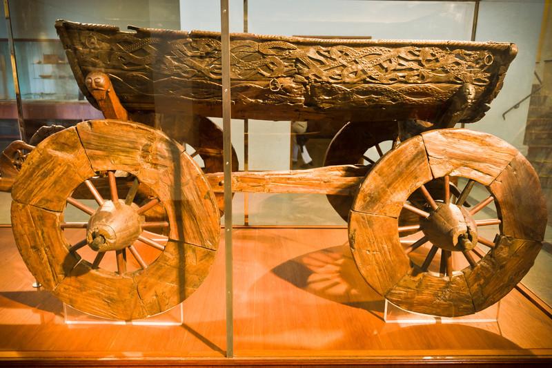 Burial wagon, Viking Ship Museum - Oslo