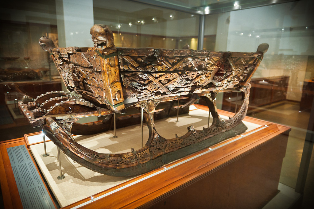 Burial sled, Viking Ship Museum - Oslo
