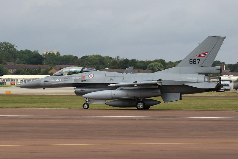 "687 General Dynamics F-16A Fighting Falcon ""Royal Norwegian Air Force"" c/n 6K-59 Fairford/EGVA/FFD 22-07-19"