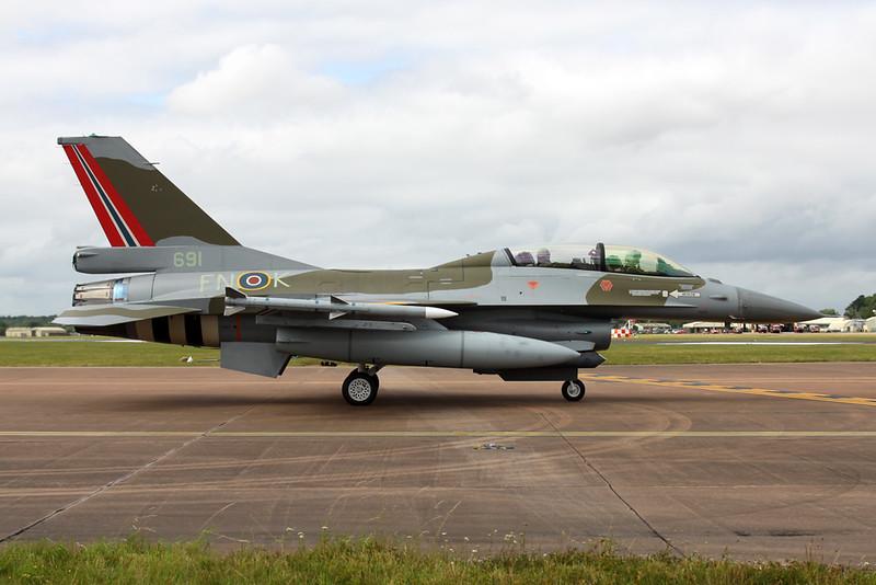 "691 (FN-K) General Dynamics F-16BM Fighting Falcon ""Royal Norwegian Air Force"" c/n 6L-10 Fairford/EGVA/FFD 22-07-19"