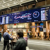 The departure and arrivals board at Oslo Central Station.