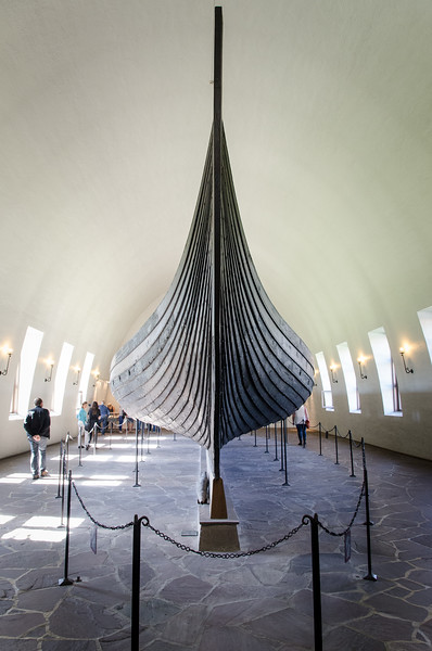 """The Gokstad ship - ca 850 AD<br /> Found at the Gokstad and Gjekstad farms in Sandefjord, Vestfold, Norway. The ship was buried around 900 AD in """"Kongshaugen"""" (The Kings Mound) which was excavated in 1880."""