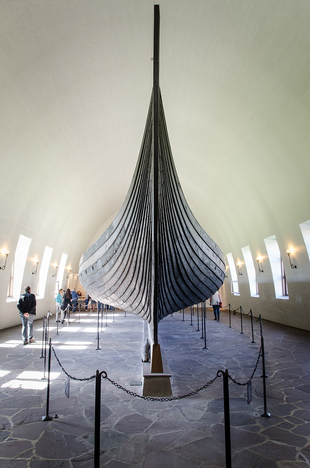 "The Gokstad ship - ca 850 AD<br /> Found at the Gokstad and Gjekstad farms in Sandefjord, Vestfold, Norway. The ship was buried around 900 AD in ""Kongshaugen"" (The Kings Mound) which was excavated in 1880."
