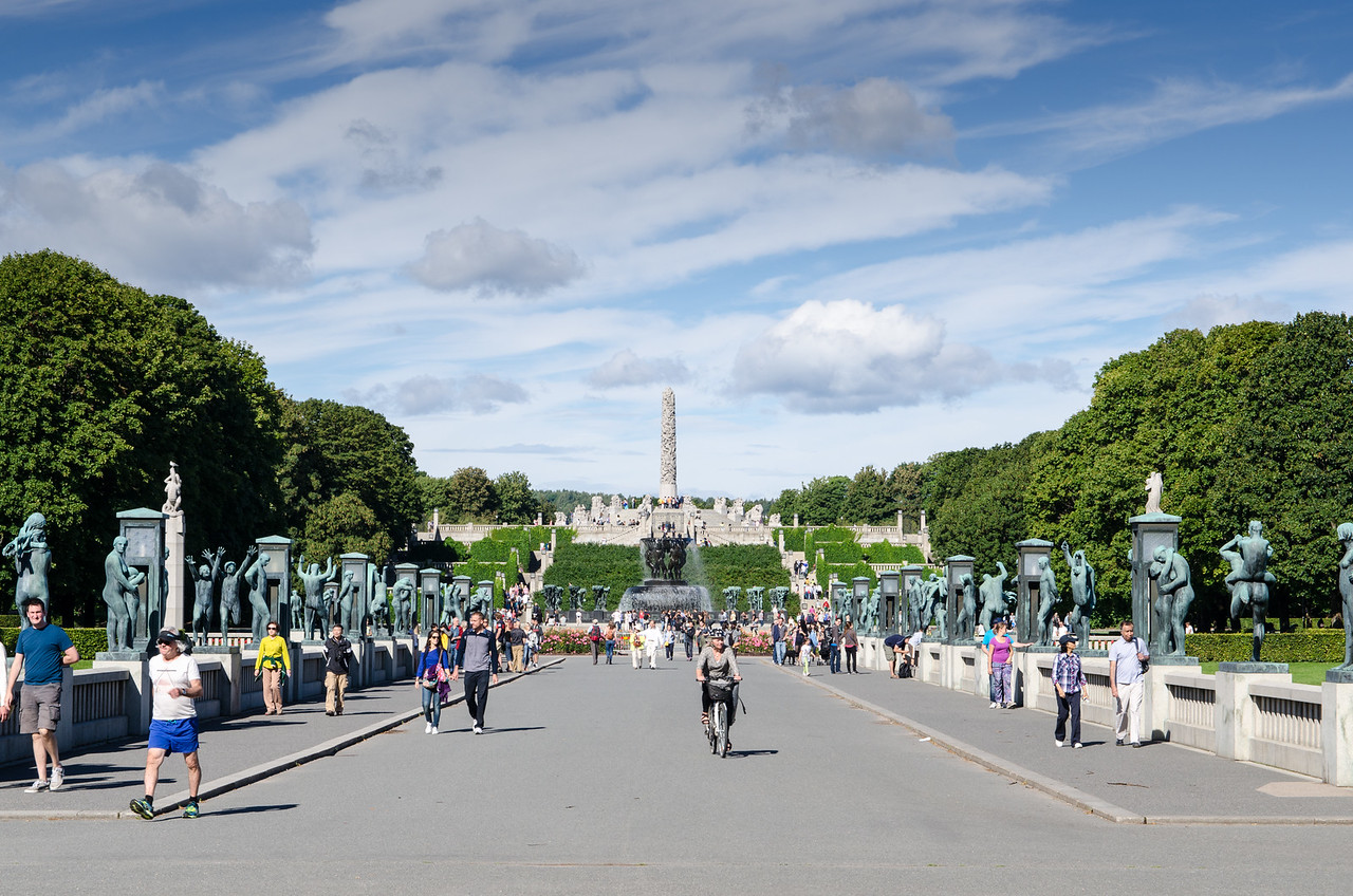 The Vigeland Park is the world's largest sculpture park made by a single artist, and is one of Norway's most popular tourist attractions.