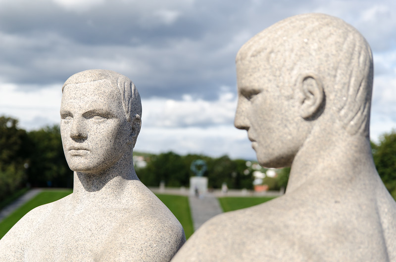 Detail of sculpture in Vigeland Park.