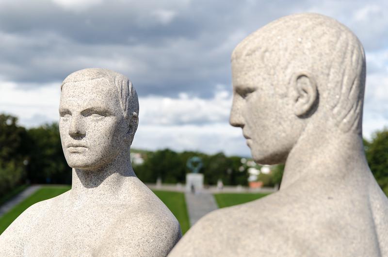 Detail of sculpture in Vigeland Park.