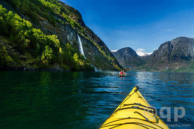 KAYAKERS IN THE FJORD