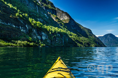 YELLOW KAYAK IN THE FJORDS