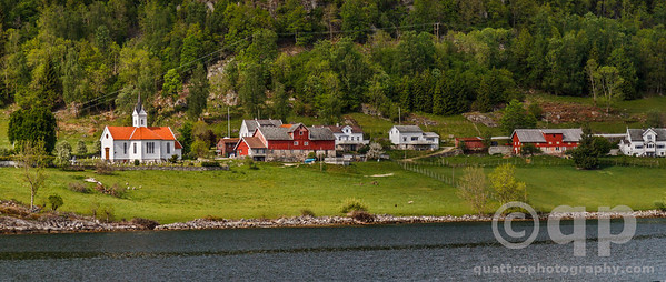 FJORD TOWN AND CHURCH