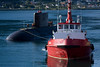 Mexican submarine being brought in to dock in Tromso