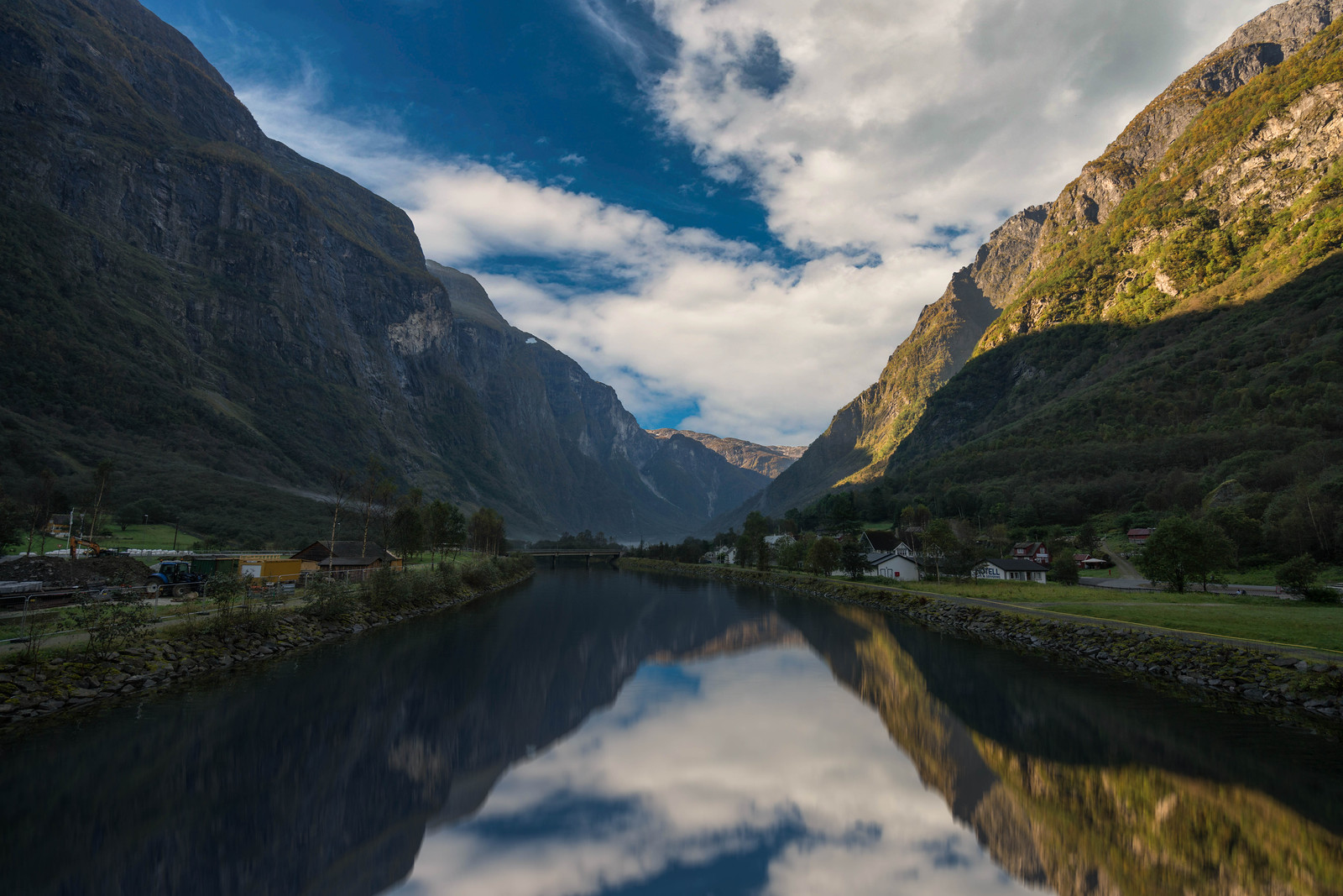 Small Villages dot the landscape along Norway's famous fjords