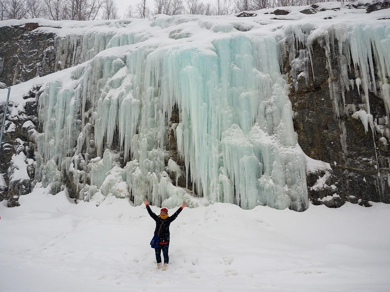 Frozen water in Alta, Norway