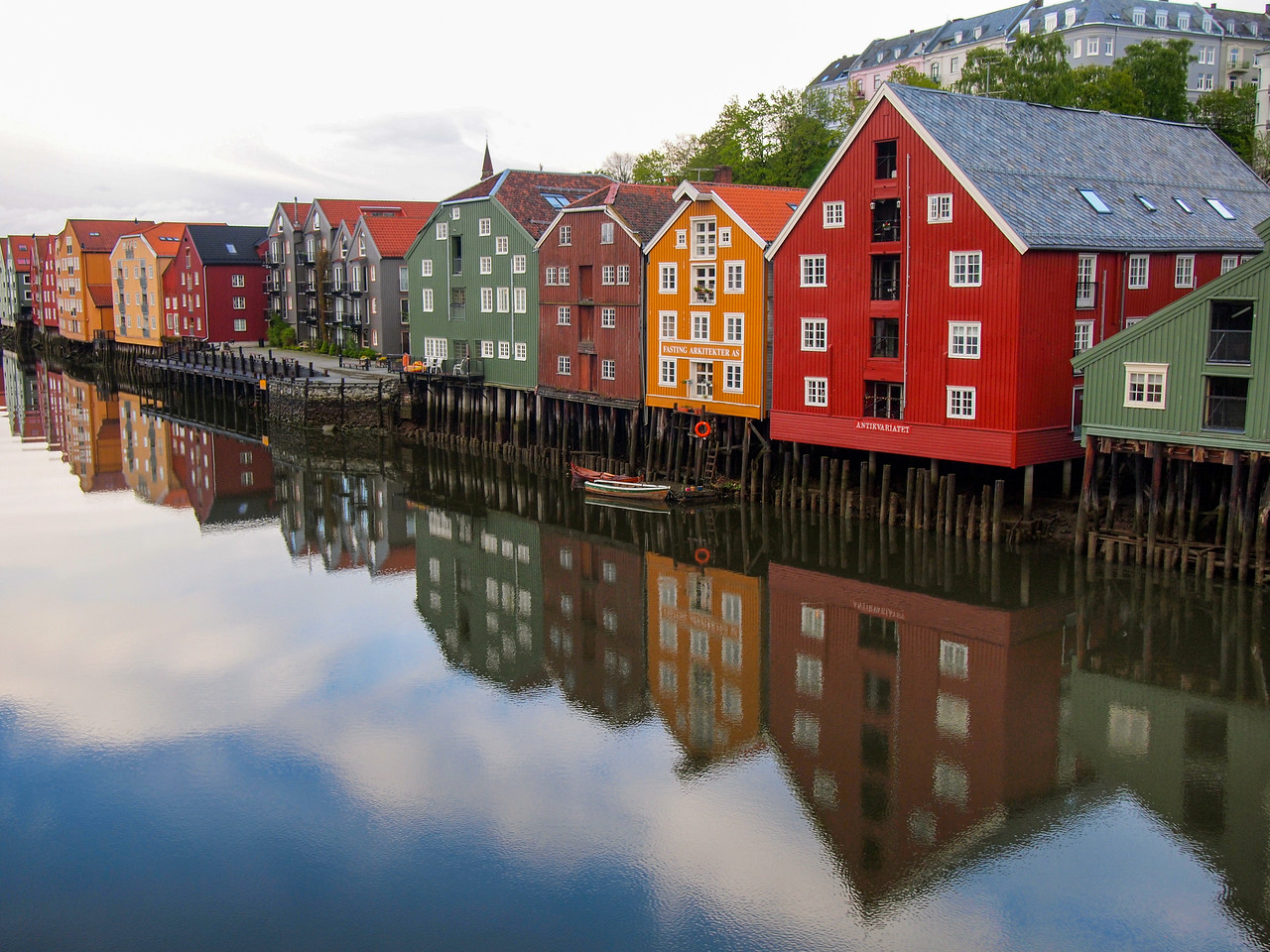 Buildings in Trondheim, Norway