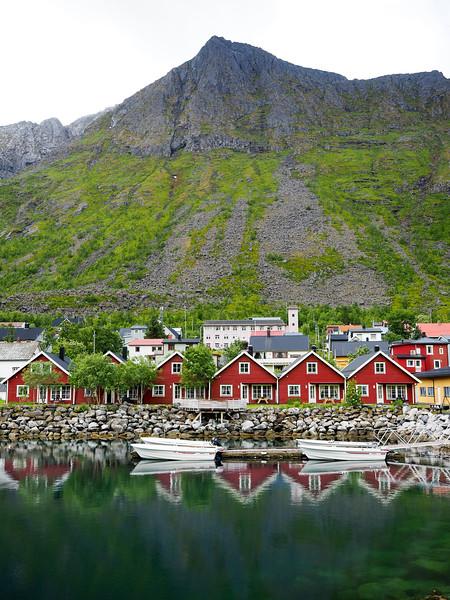 Cabins in Gryllefjord, Norway